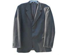 Vintage Cacharel LIBE man blazer gray jacket by SilhouettesArt