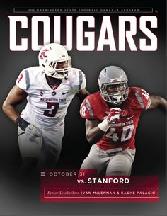 ad6b7cbc92a The 2015 Washington State University Cougars Football Gameday Program vs.  Stanford