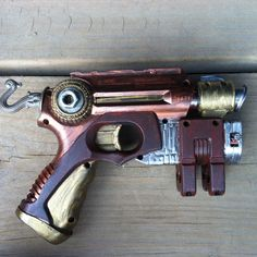 Steampunk Painted Nerf Gun Copper Silver Brown Gold by WhiteStagWorkshop on  Etsy https://