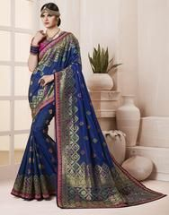 Largest selection of sarees from popular indian online shops. Order this art silk embroidered, resham and zari work designer traditional saree. Indian Dresses, Indian Outfits, Suits For Women, Clothes For Women, Indian Clothes Online, Lehenga Saree, Sari, Stylish Sarees, Casual Saree