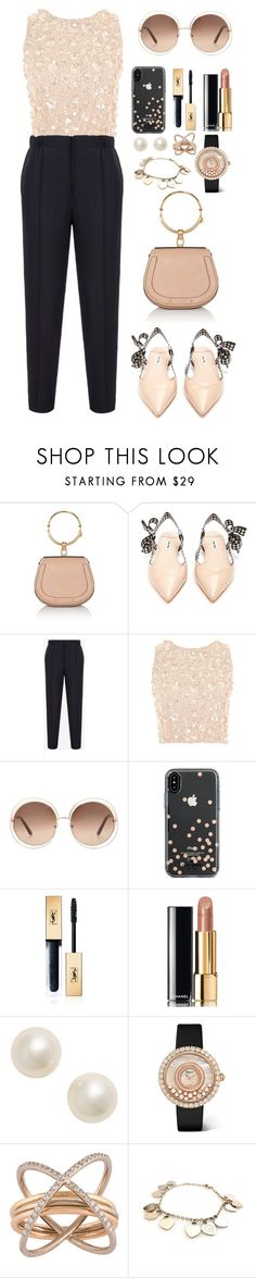 """""""Untitled #657"""" by mayer-fruzsina ❤ liked on Polyvore featuring Chloé, Miu Miu, Bally, Lace & Beads, Kate Spade, Yves Saint Laurent, Chanel, Poppy Finch, Chopard and Charlotte Chesnais"""