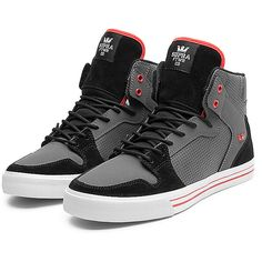 SUPRA Footwear (6.815 RUB) ❤ liked on Polyvore featuring shoes, sneakers, supra, supra shoes, supra sneakers, grip trainer, mesh shoes and high top shoes