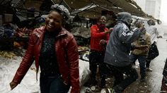 """August 2012. Rare snow fell in and around South Africa's city of Johannesburg on Tuesday. It began snowing in the morning and flurries continued all day. Some said they had never seen snow before. """"Amazing. Never happened in my life,"""" security guard Mizundile Eseu, 23, told the AFP news agency."""