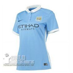 Camiseta Primera Mujer Manchester City 2015-16  €15.5