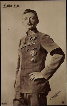 Kaiser Karl I (of Austria) & IV (of Hungary) Bulgaria, Austrian Empire, Royal Families Of Europe, Archduke, Pope John Paul Ii, Austro Hungarian, European History, Ferdinand, Military History
