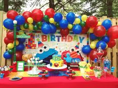 Sesame Street Party Decorations First Birthday Streets Graceful 1 1st Themes 3rd