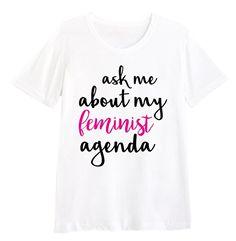 Ask Me About My Feminist Agenda Shirt FEMINISM GENDER ROL... http://www.amazon.com/dp/B01CLJZIAE/ref=cm_sw_r_pi_dp_vzqvxb00R9XQR