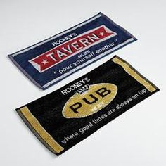 Personalized Bar Towels - Set Of 2  $14.99   for dad!