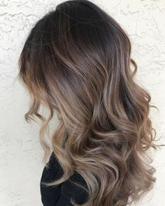 Long Wavy Ash-Brown Balayage - 20 Light Brown Hair Color Ideas for Your New Look - The Trending Hairstyle Brown Hair Balayage, Brown Hair With Highlights, Brown Blonde Hair, Light Brown Hair, Hair Color Balayage, Brown Hair Colors, Brunette Hair, Blonde Balayage, Balyage Brunette