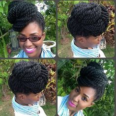 Sassy twists updo #braids