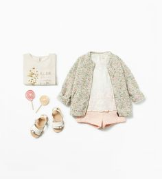 Shop by look - Baby girl months - 3 years) - KIDS Outfits Niños, Baby Outfits, Toddler Outfits, Little Girl Fashion, Fashion Kids, Toddler Fashion, Baby Kind, My Baby Girl, Boy Clothing