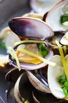 Ginger and Clam Soup - Nourishing Chinese style soup with clams and lots of ginger. This soup is abs Seafood Soup Recipes, Rasa Malaysia, Few Ingredients, Clams, Asian Recipes, Stew, Easy, Curry, Chinese Style