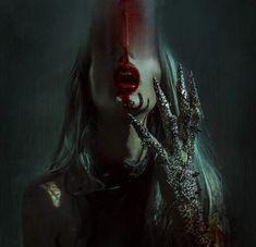 The beautiful surreal work of Ashley Joncas - DIY Photography Arte Horror, Horror Art, Gothic Fantasy Art, Beautiful Dark Art, Dark Portrait, Vampire Art, Macabre Art, Dark Photography, Dark Gothic