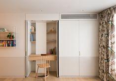 Studio Ulanowski Designs a London Penthouse Apartment for a Jewelry Designer Based in Hong Kong Hidden Desk, Built In Desk, Light Hardwood Floors, Stylish Beds, Penthouse Apartment, Built In Wardrobe, Rustic Interiors, Apartment Design, Girls Bedroom