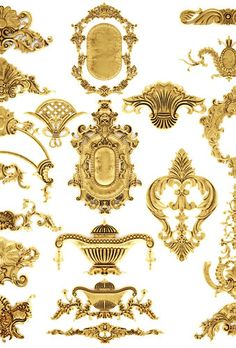cartouches set 31 3d model max obj fbx mtl 3 Neoclassical Architecture, Architecture Details, Arabesque, Baroque Art, Album Design, Design Layouts, Victorian Dolls, Carving Designs, Damask