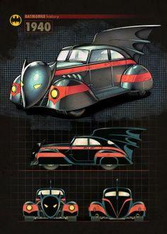 batmobile history batman 1940 car