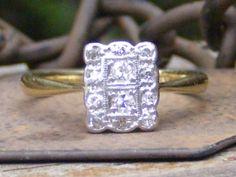 Petite Antique Edwardian / Art Deco Diamond Ring! Beautiful Styling, Quality Abounds!