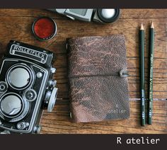 $33 | Midori Traveler's Notebook | Leather Journal Cover | Limited Edition | Passport Size Starter Kit #midoritravelersnotebook #leatherjournal