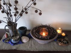 Several beautiful (and meaningful) Lenten displays.