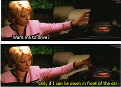 """Want me to drive?"" ~ Dharma & Greg ~ Quotes ~ Season 1, Episode 8: Mr. Montgomery Goes to Washington"