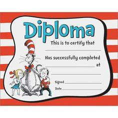 Cat In The Hat™ Diplomas
