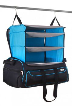 Weekender Bag from Rise and Hang Travel gear would make it easier to pack everything, it features innovative patented portable shelving system, keeping all your clothes folded and organized perfectly. Travel Packing, Travel Luggage, Best Travel Bags, Travel Tips, Astuces Camping-car, Travel Organization, Travel Gadgets, Camping Gear, Travel Accessories