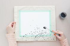 DIY confetti tote bag