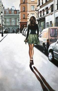 """Saatchi Art Artist thomas saliot; Painting, """"Paris walk"""" #art"""