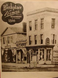 """Pharmacist James Vernor, Sr. was born on this day in 1843!  Upon his return from the Civil War in 1866, James opened a drug store at 233Woodward on the corner of Clifford Street, selling his ginger ale at its soda fountain, advertising it as""""Vernor's Ginger Ale"""".    James held the very first license issued by the Michigan Board of Pharmacy, and served on theDetroit City Councilfor 25 years.."""