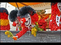 Basler Fasnacht, Basel carnival, the week after all other carnicals are finished. Started as a rebuke to the catholic bishop