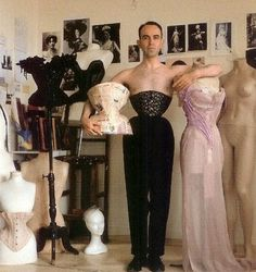 f0390c770d Pearl at his workshop in Paris. He is now a Corsetier making corsets for  designers such as Thierry Mugler