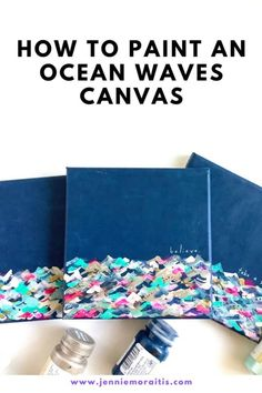 This is such an easy and satisfying project! Perfect for beginners and for anyone who wants to paint an acrylic wave painting for a gift or home decor! They are seriously so fun to make! Cute Crafts, Diy Crafts For Kids, Projects For Kids, Craft Ideas, Best Friend Gifts, Gifts For Friends, Acrylic Wave Painting, Layer Paint, Going Away Gifts
