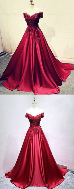 Burgundy lace off shoulder long prom dress, lace evening dress P1586 #2018promdresses #fashionpromdresses #charmingpromdresses #2018newstyles #fashions #styles #hiprom #prom  #offtheshoulder #burgundy