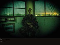 Tchad, 01h34, il monte la garde dans son mirador. © CCH A. DUMOUTIER