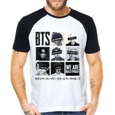 Camiseta Bangtan Boys BTS Raglan Curta