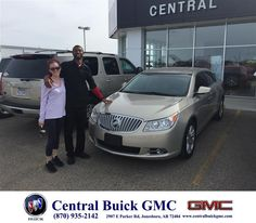 https://flic.kr/p/FvFpZJ | Happy Anniversary to Ebenezer & Lauren on your #Buick #LaCrosse from Justin Duckert at Central Buick GMC! | deliverymaxx.com/DealerReviews.aspx?DealerCode=GHWO