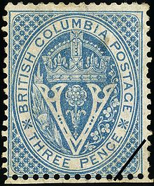 Stamp: Seal of British Columbia (Canada) (British Colonies - British Columbia) Sn:GB-BC 7