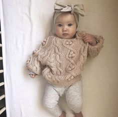 Fashion Look Featuring Hudson Baby Girls' Accessories and First Impressions Boys' Pants by – ShopStyle Baby Mädchen Pullover Outfit. Neutral Baby Clothes, Winter Baby Clothes, Baby Winter, Cute Baby Clothes, Babies Clothes, Baby Clothes For Girls, Baby Girl Clothing, Newborn Baby Clothes, Cute Baby Stuff