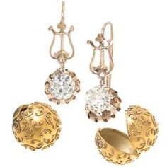 1890s Victorian Diamond Gold Carriage Day Night Earrings
