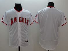 f0c2d6eb0d0 2016 MLB FLEXBASE Los Angeles Angels blank white jerseys