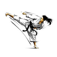 karate action 5 - Acquista questo vettoriale stock ed esplora vettoriali simili in Adobe Stock   Adobe Stock