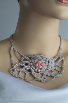 Hey, I found this really awesome Etsy listing at https://www.etsy.com/ru/listing/123308596/light-grey-freeform-crochet-necklace