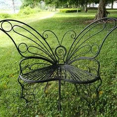 Find gorgeous Outdoor Benches at Wayfair for your backyard or patio. Metal Patio Furniture, Door Furniture, Metal Chairs, Black Chairs, Furniture Removal, Bloom High Chair, Chair Makeover, Cafe Chairs, Room Chairs
