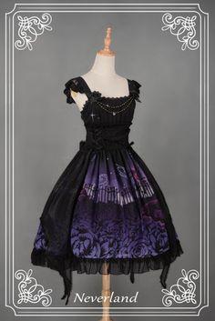 -Park Cemetery of Butterflies- Lolita JSK with Butterfly Tails Overskirt - My Lolita Dress