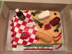 Italian theme Birthday Cake (Everything handmade with fondant)