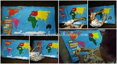 DICAS Homeschooling: Continentes Mapa Feltro Ensino Domiciliar Infantil...