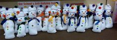 Today we made one of our parent gifts—the sock snowman!  My class totally thought I was running a build a bear factory right in our room!  Here's your shopping list for your sock snowman-I get everything at walmart in one trip- 1 bag (10 pairs) of plain white tube socks.  (in men's size) makes 20 …