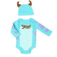 Disney Monsters Inc Boys Bodysuit and Hat Set - Sully - Babies R Us - Babies R Us