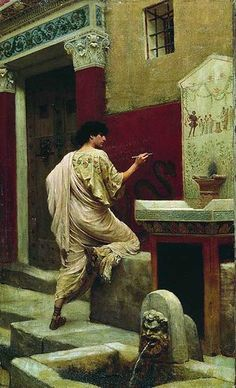 Stefan Bakałowicz (Russian: Степан Бакалович) – was a Polish painter from Warsaw, famous in the Russian Empire. He was noted for his paintings on the subjects of Ancient Rome. At the Walls of Pompeii Chuvash State Art Museum Ancient Rome, Ancient Art, Ancient History, Roman History, Art History, Rome Antique, Pompeii And Herculaneum, Classical Art, Roman Empire