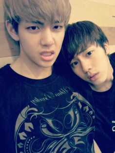 V 뷔 and Jin 진 from Bangtan Boys 방탄소년단